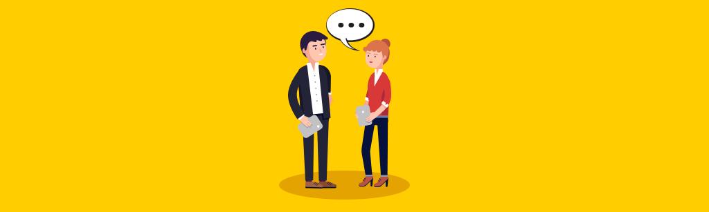 Uma pessoa ouvindo enquanto outra fala