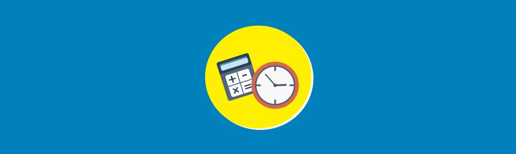 Calculadora e relogio representando como calcular o reponse time