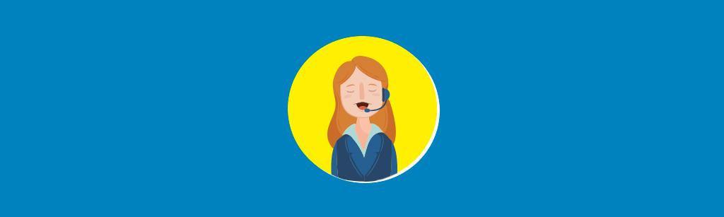 Uma mulher falando com o lead ao telefone para representar o lead response time