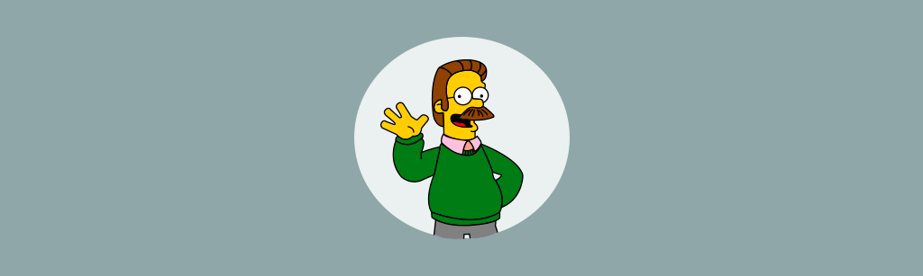 Ned Flanders personagem do simpsons representando a persona orientada a lealdade