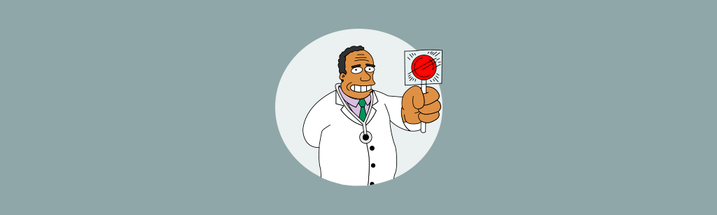 Personagem Dr. Hibbert do simpsons representando personas espontaneas
