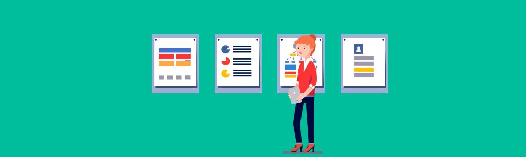 Gestor comercial acompanhando os dados e o planejamento