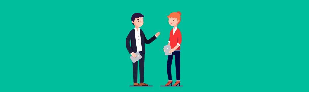 gestores definindo o processo de venda e o relacionamento com o cliente
