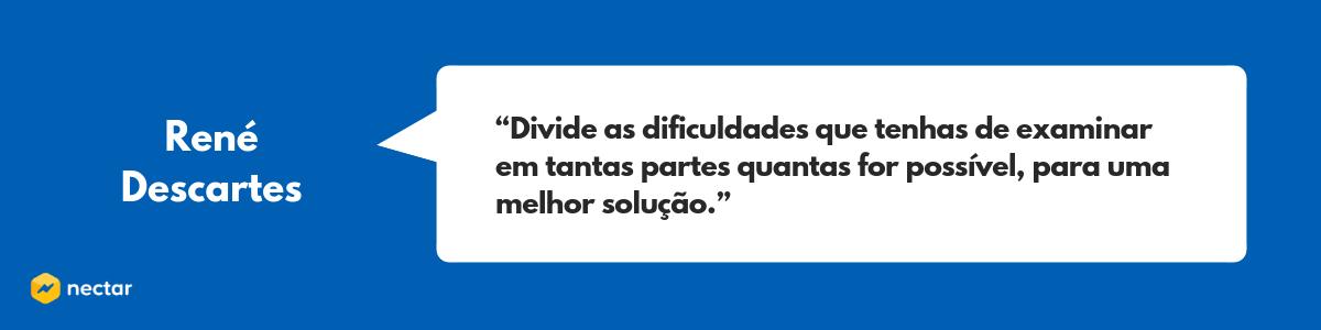 Frase de René Descartes